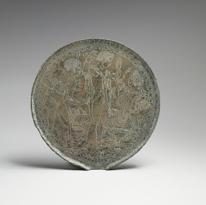 Etruscan Mirror, 350 BCE, The Etruscans