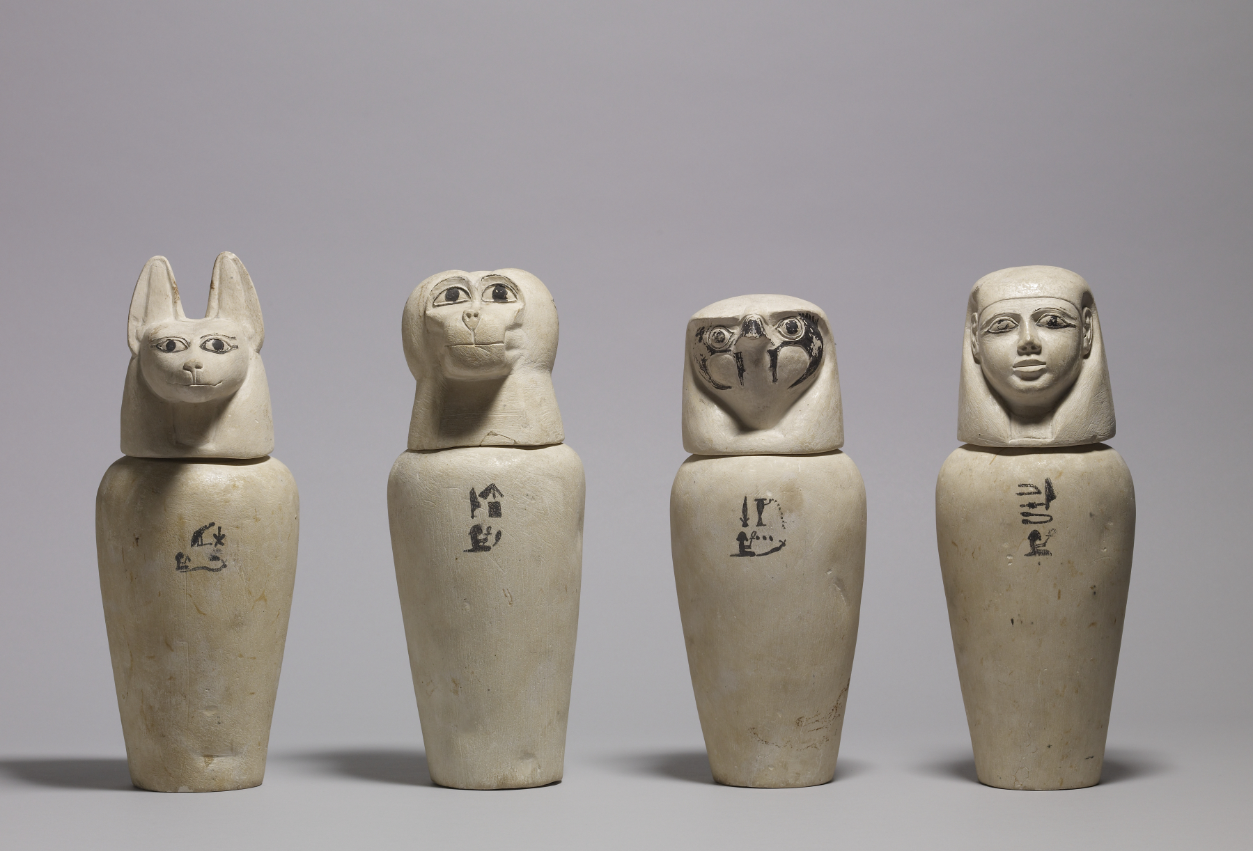 Canopic Jars, 900 BCE — Ancient Egypt