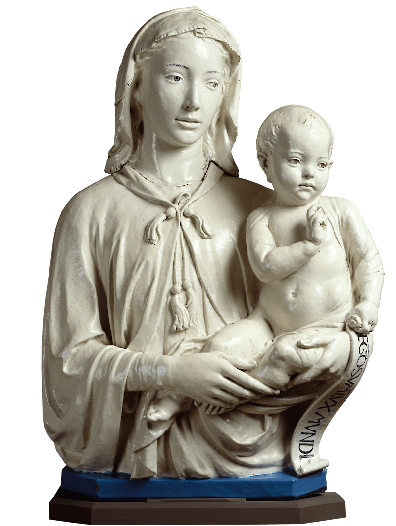 Madonna and Child with Scroll, 1455, Luca della Robbia