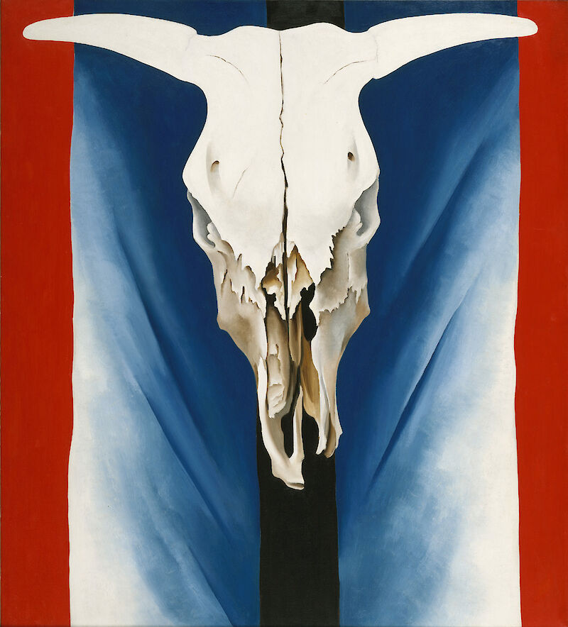 Cow's Skull: Red, White, and Blue