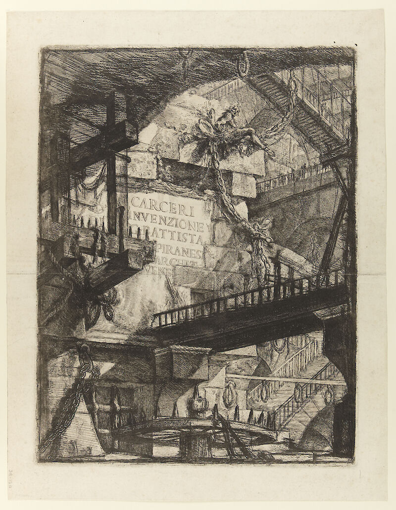 Imaginary Prisons: Title Plate, 1761, Giovanni Battista Piranesi