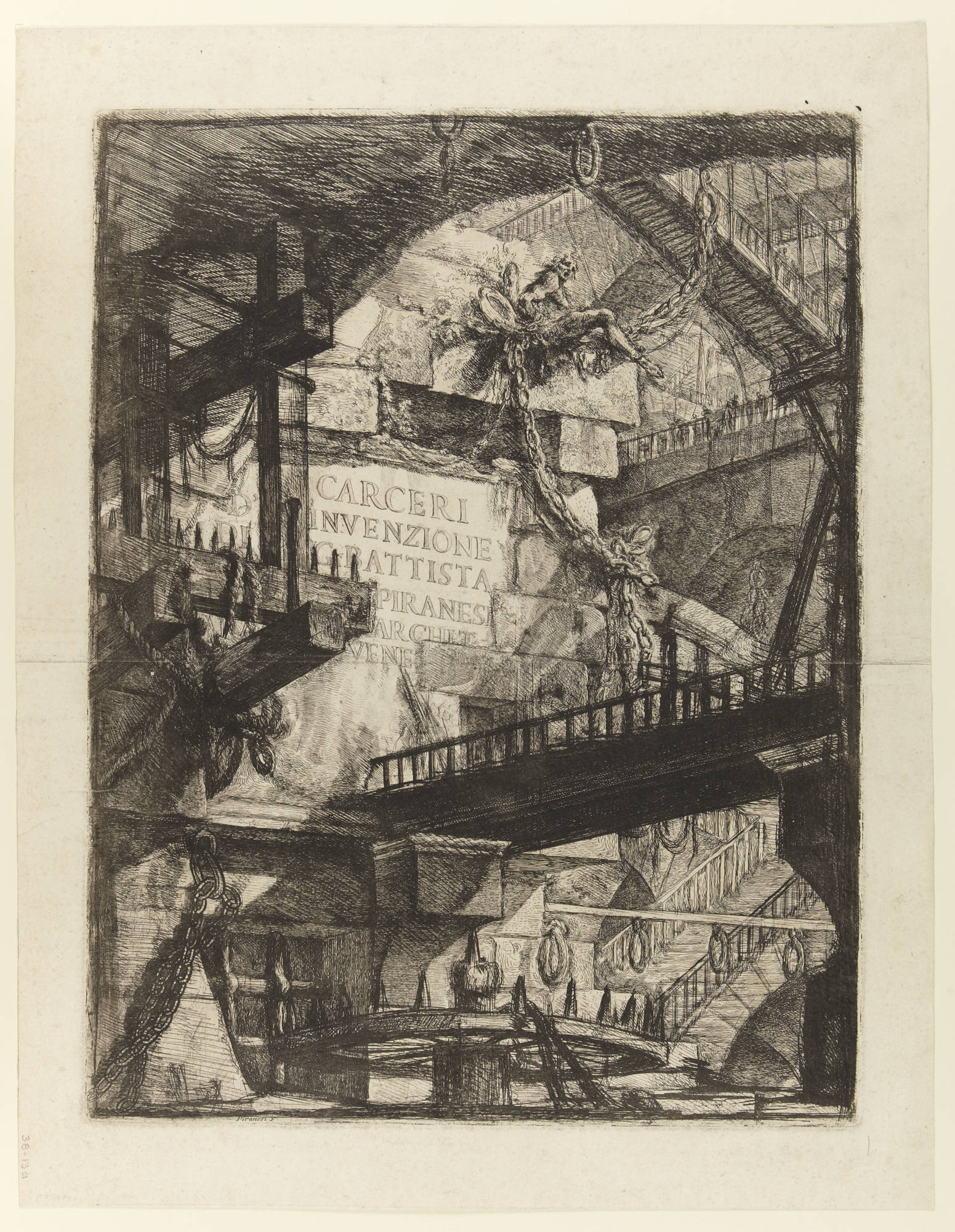 Imaginary Prisons: Title Plate, 1761 — Giovanni Battista Piranesi,