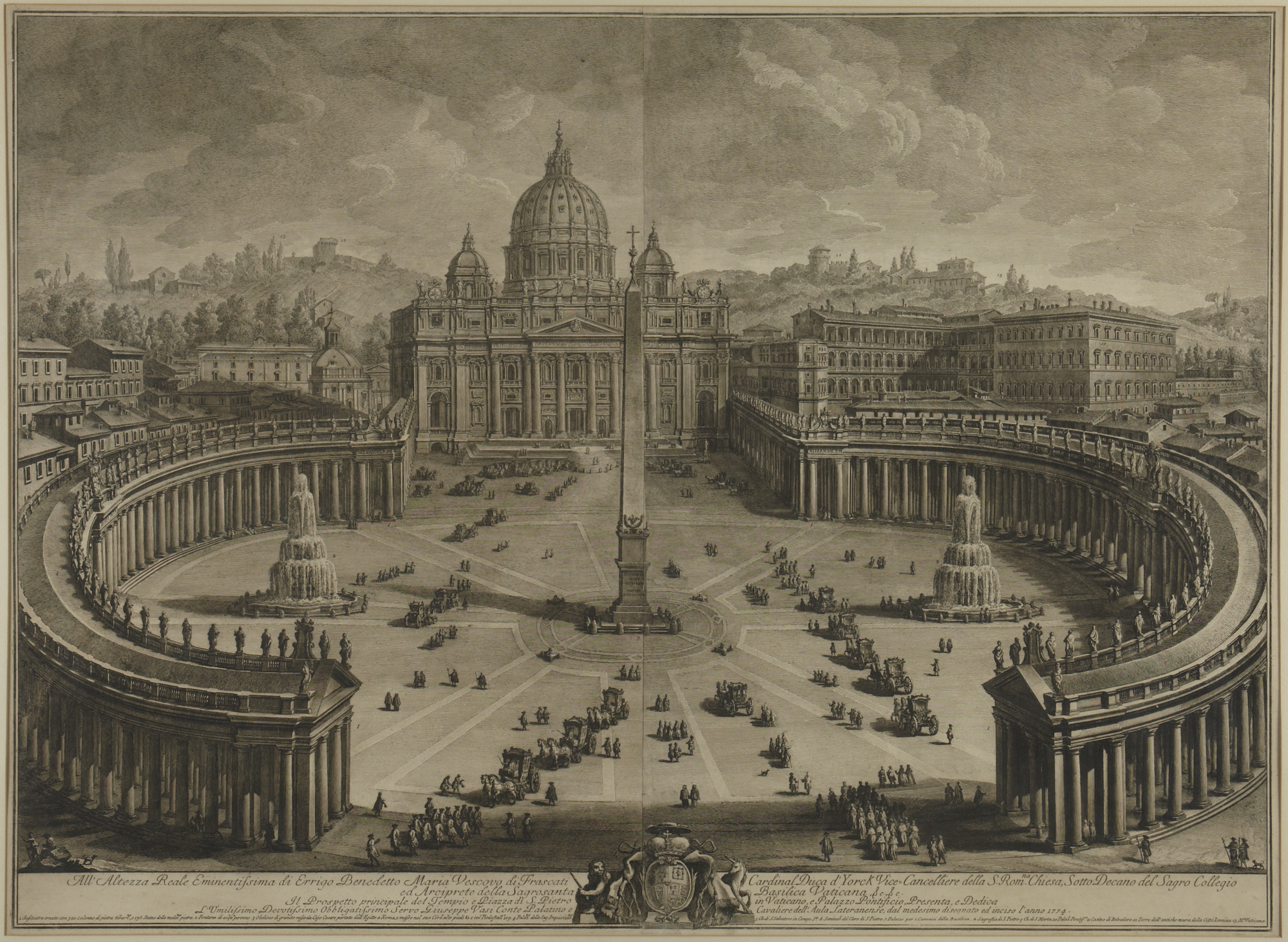 View of St. Peter's and the Piazza, 1775 — Giovanni Battista Piranesi,