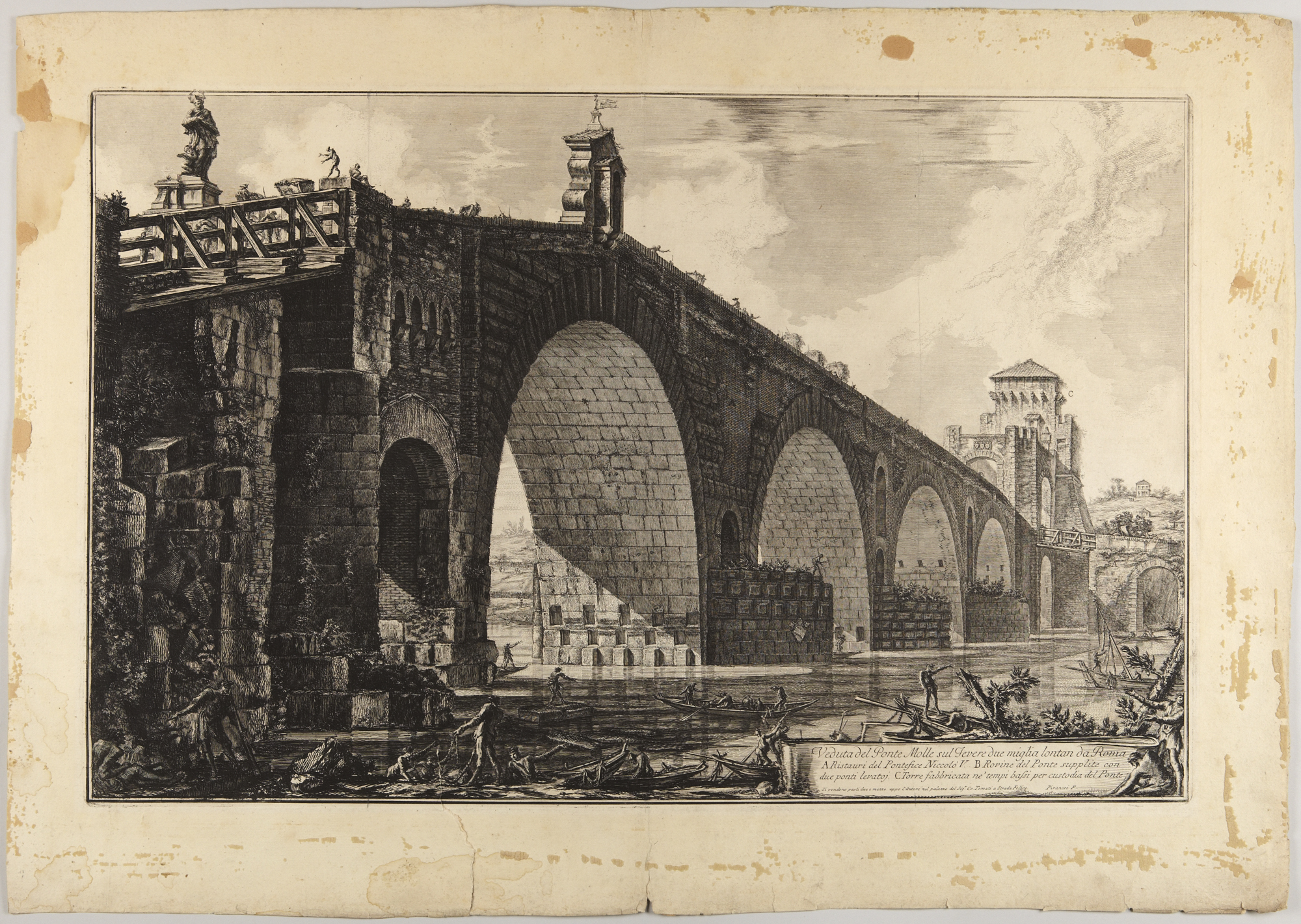 Ponte Molle, 1762 — Giovanni Battista Piranesi