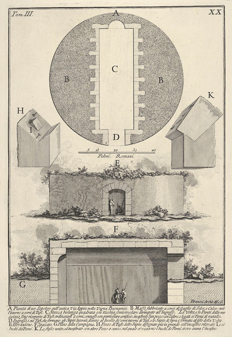 Plan of a Tomb on the Appian Way in Vigna Buonamici