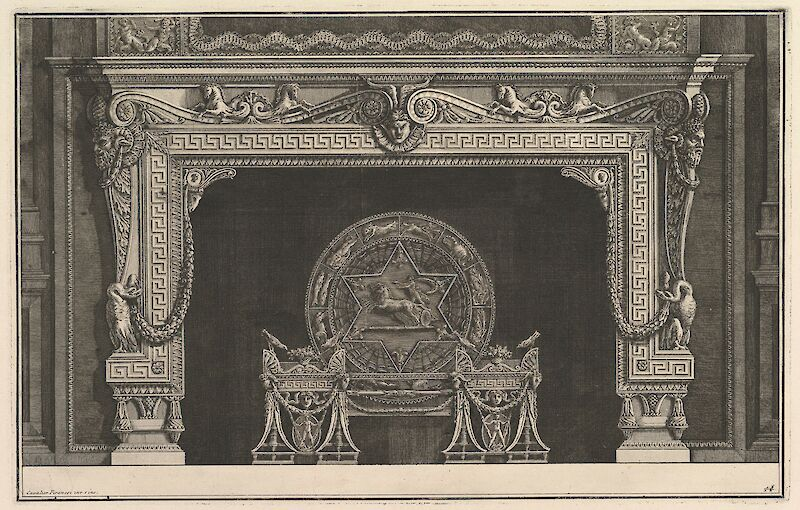 Chimneypiece in Greek Style, 1769, Giovanni Battista Piranesi