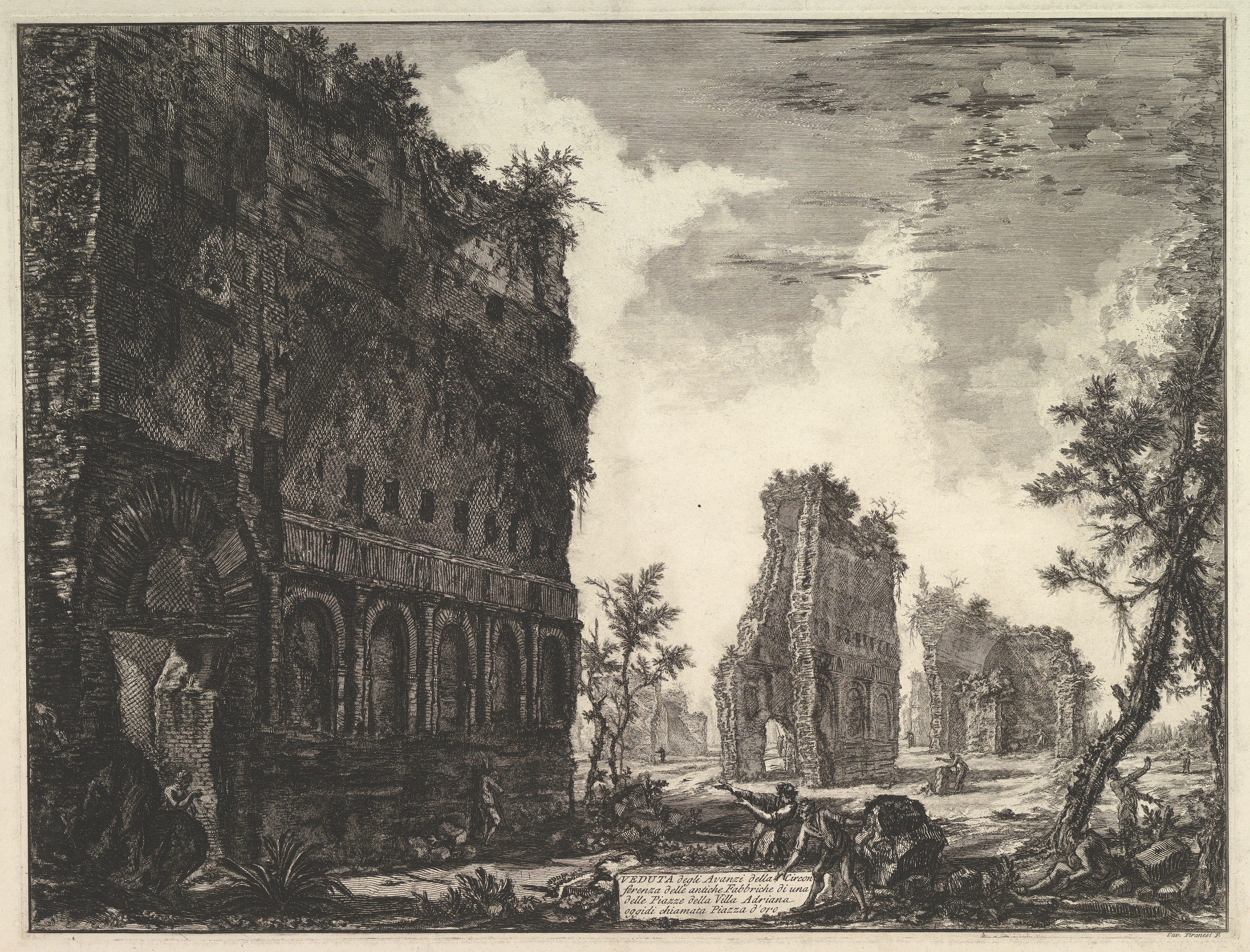Hadrian's Villa: The Piazza d'Oro, 1776 — Giovanni Battista Piranesi,