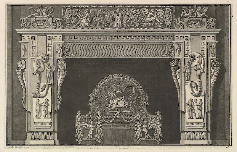 Chimneypiece: Frieze of Trophies and Winged Victories