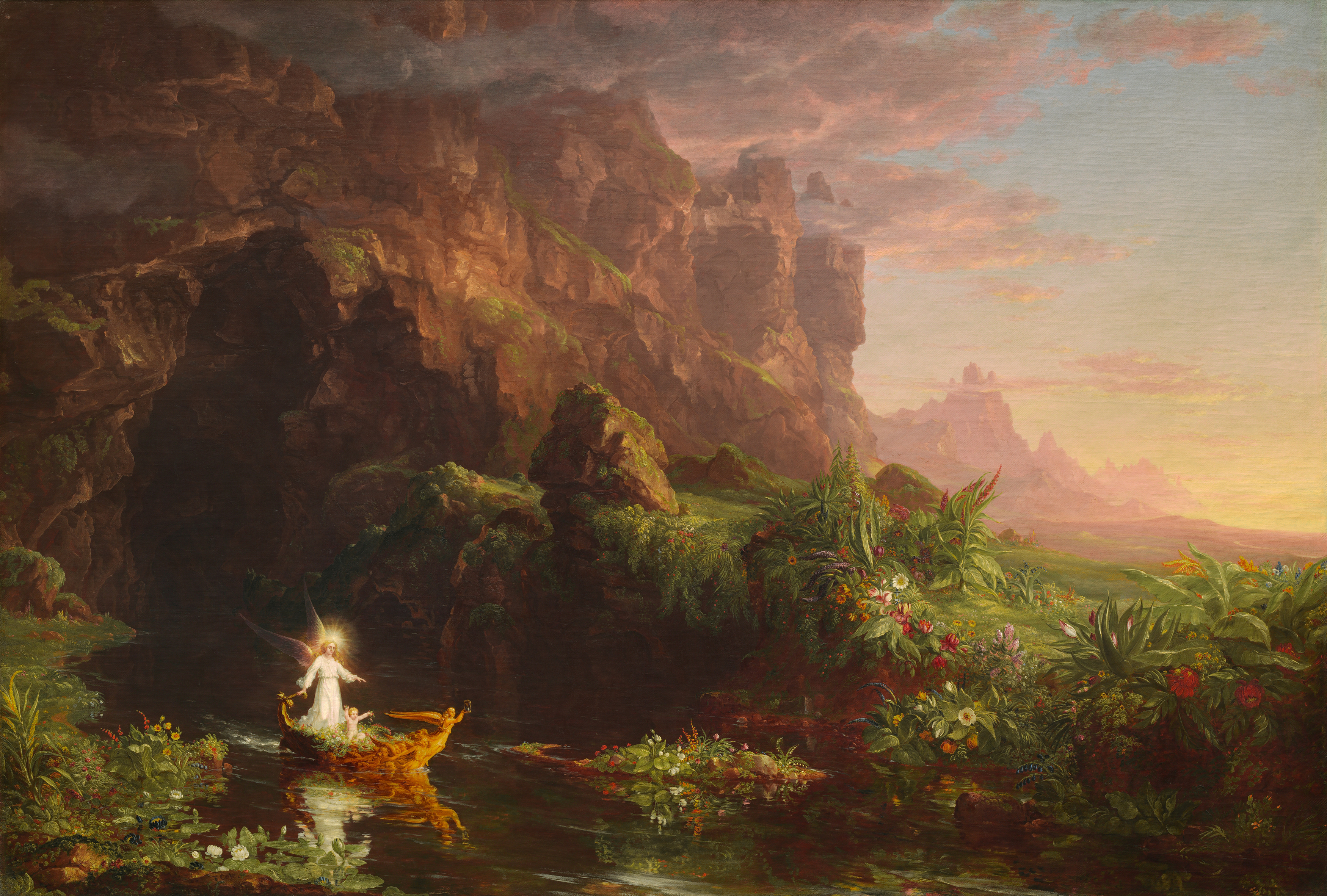The Voyage of Life: Childhood, 1842 — Thomas Cole
