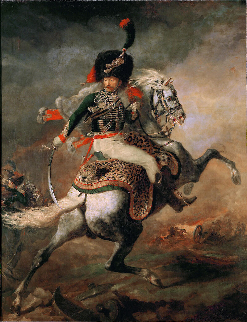An Officer of the Imperial Horse Guards Charging, 1812, Théodore Géricault