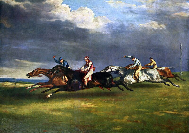 The Epsom Derby, 1837, Théodore Géricault