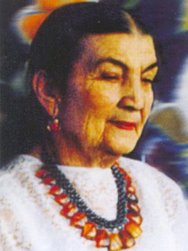 Portrait of Aisha Galimbaeva