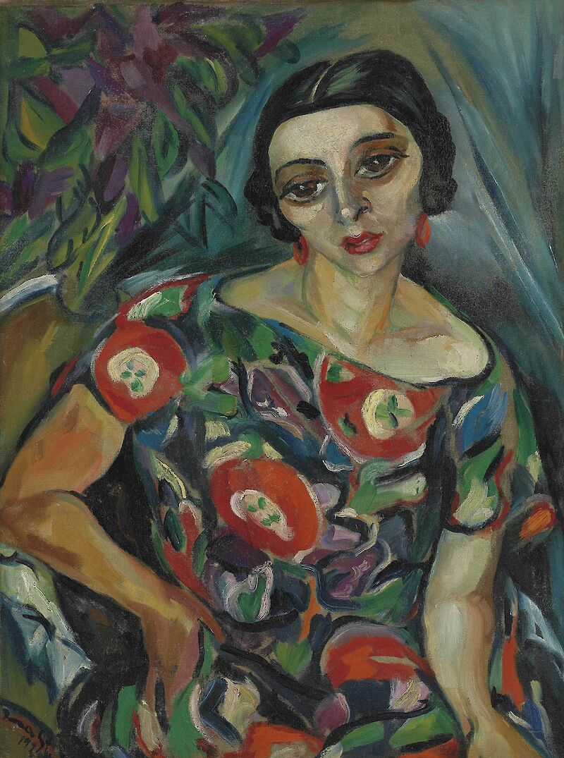 Portrait of Rebecca Hourwich Reyher, 1925, Irma Stern