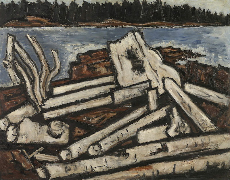 Ghosts of the Forest, 1938, Marsden Hartley