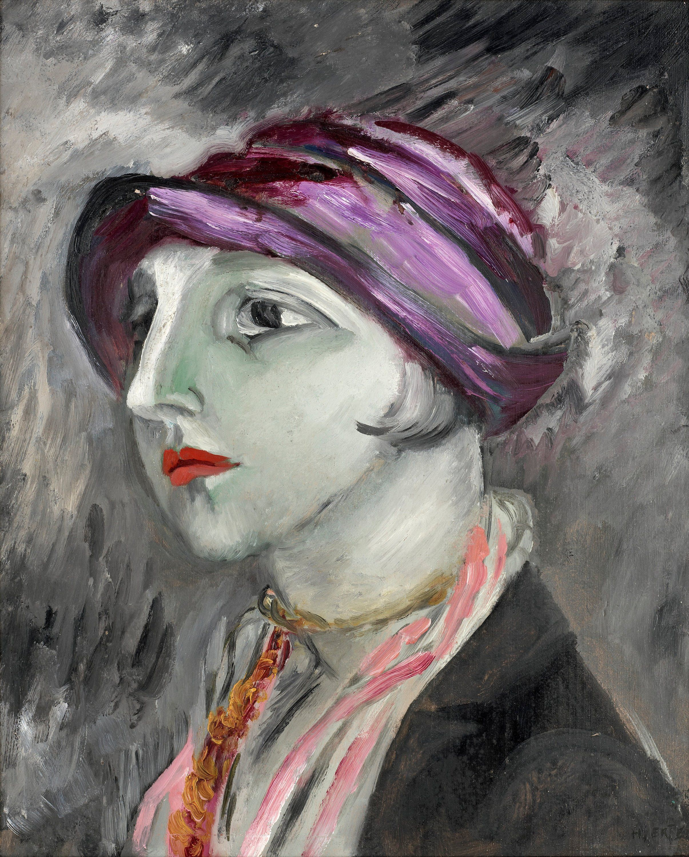The Violet Hat, 1923 — Sigrid Hjertén,
