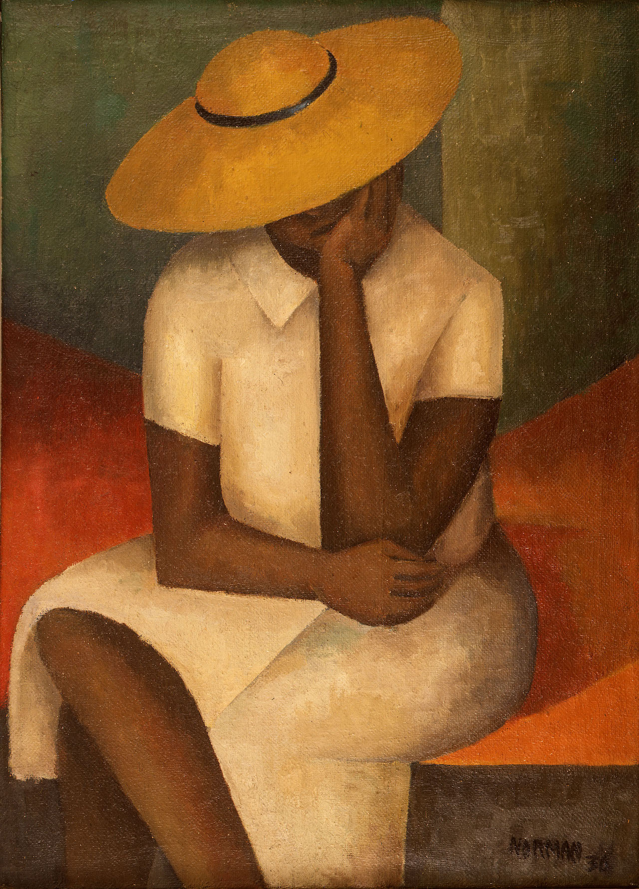 Girl with Yellow Hat, 1936 — Norman Lewis