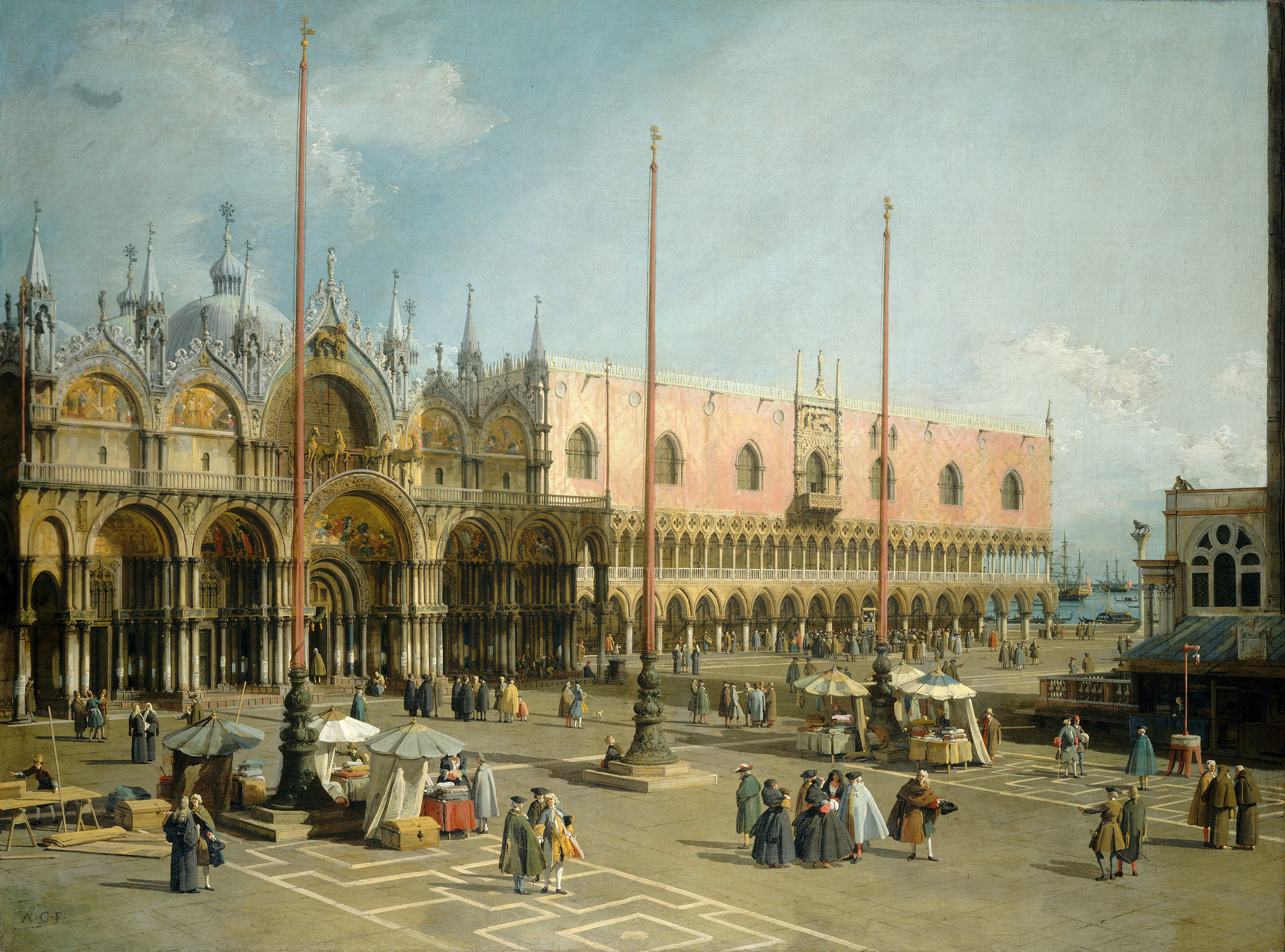 The Square of St Mark's, Venice, 1744 — Canaletto