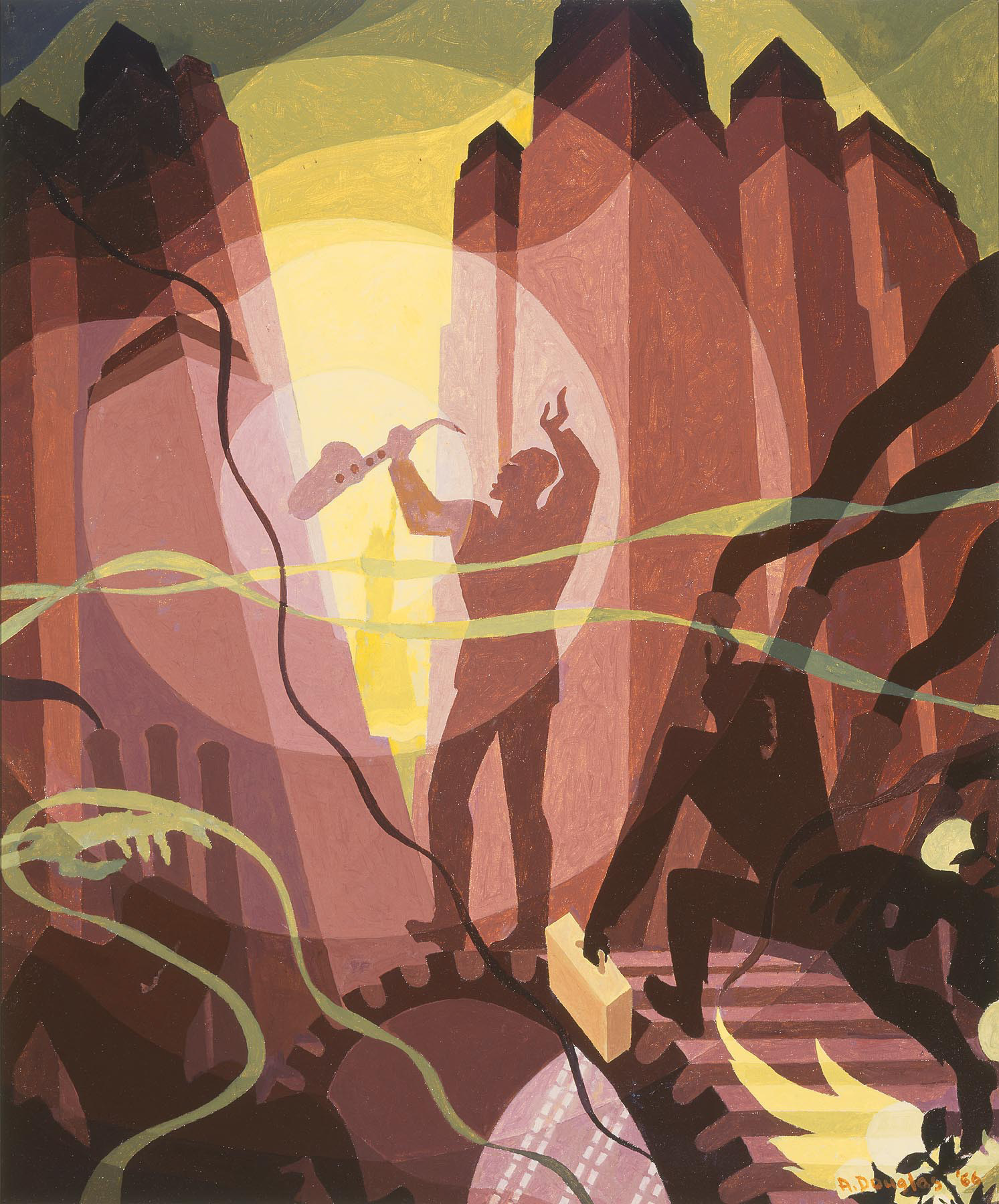 Song of the Towers, 1966 — Aaron Douglas,