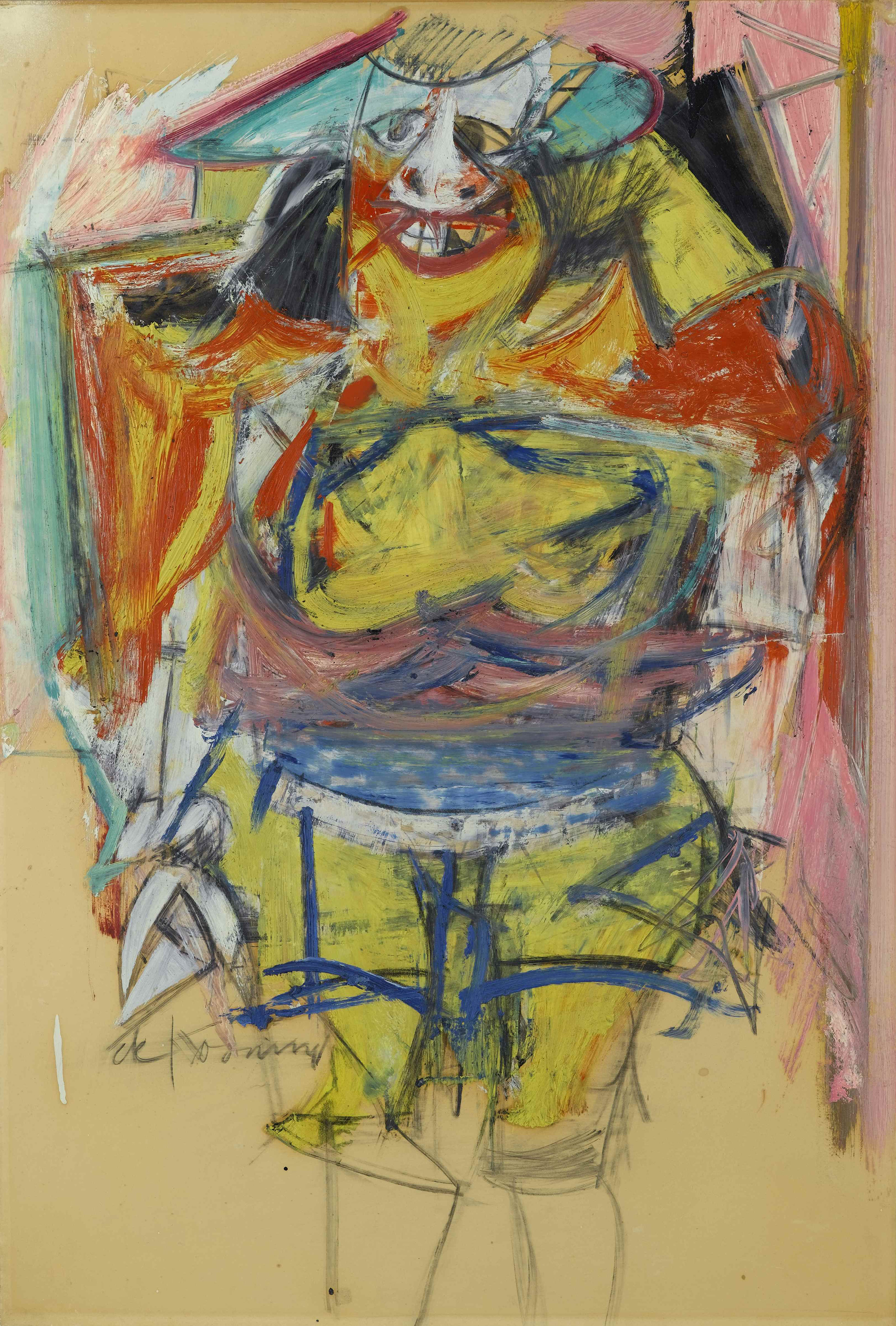 Woman, 1954 — Willem de Kooning