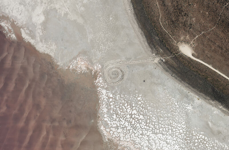 Spiral Jetty, additional view