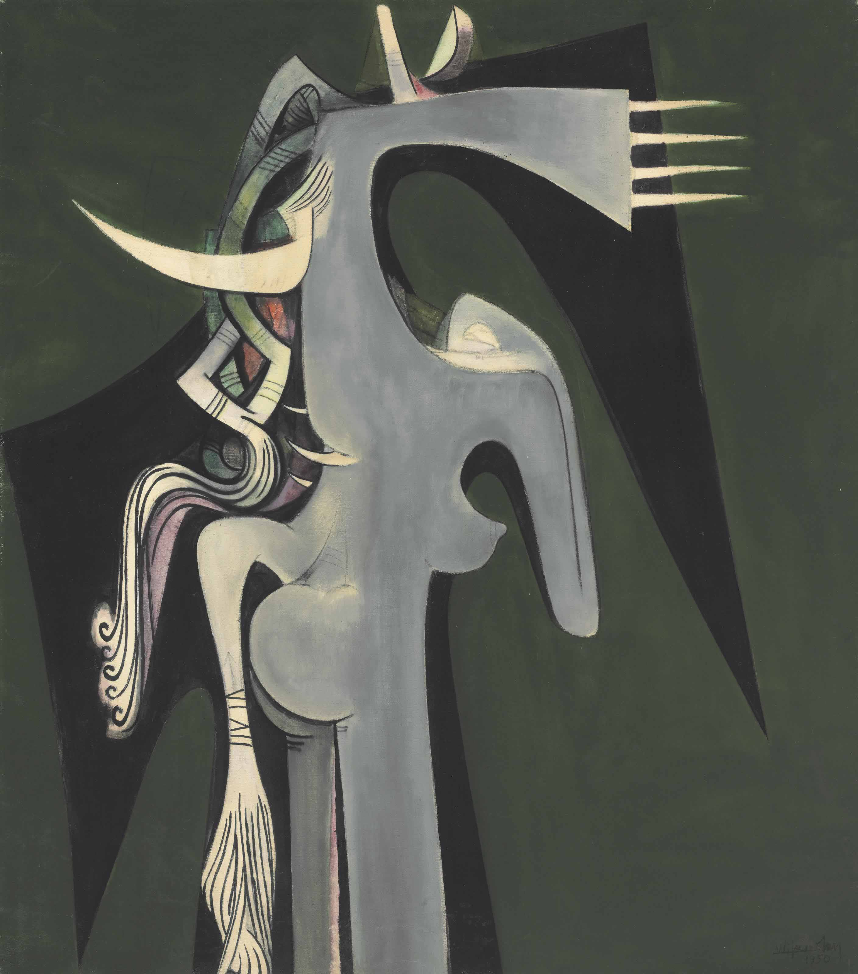 Horse-Headed Woman, 1950 — Wifredo Lam,