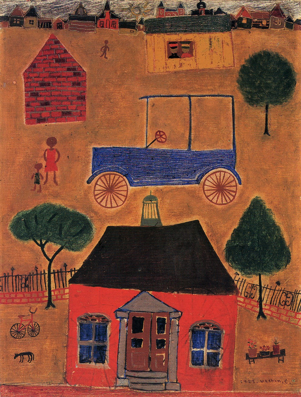 Scene with a Car, 1953 — Chang Ucchin
