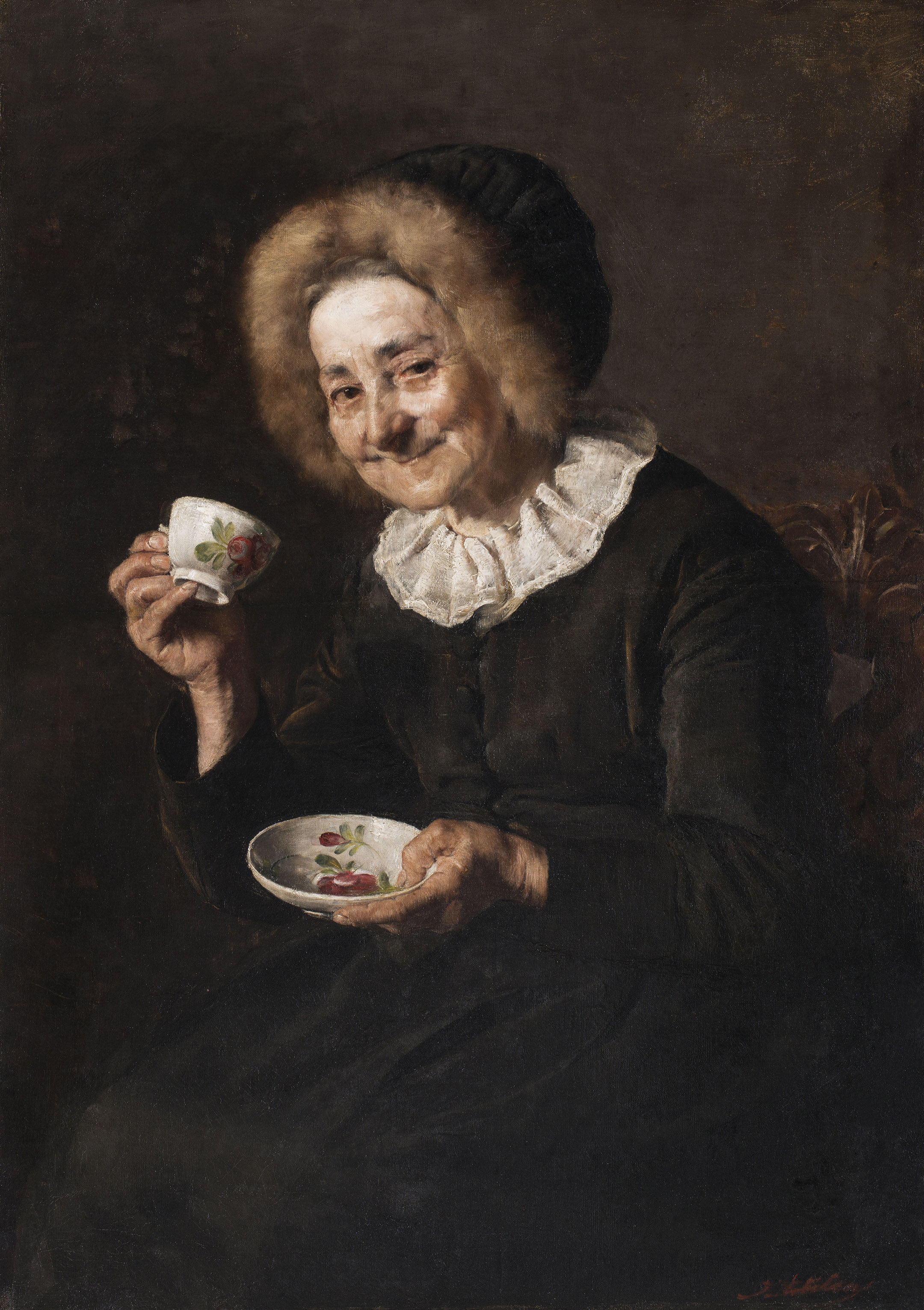 Coffee drinker, 1888 — Ivana Kobilca