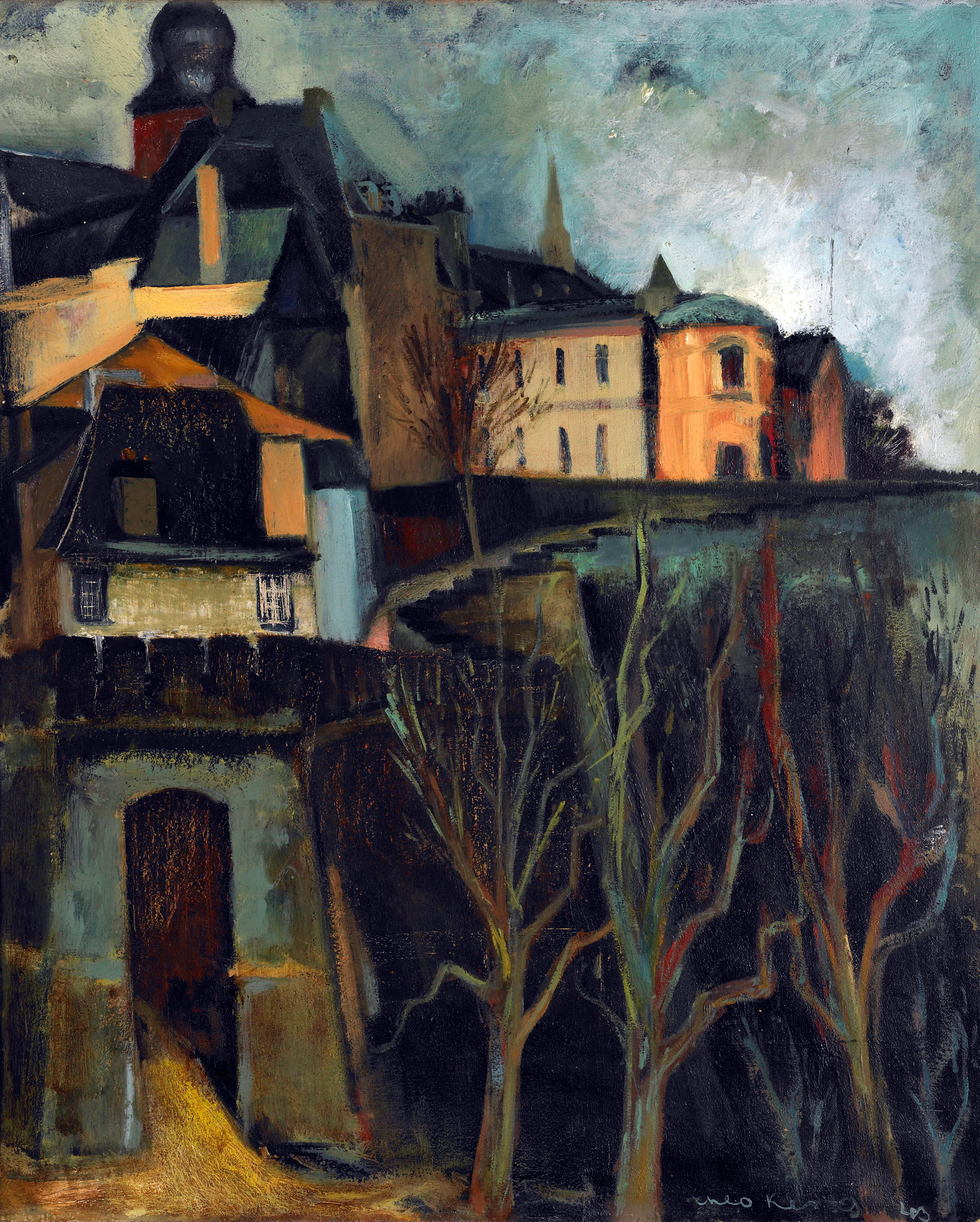 View of the Corniche Road in Luxembourg City, 1943 — Théo Kerg