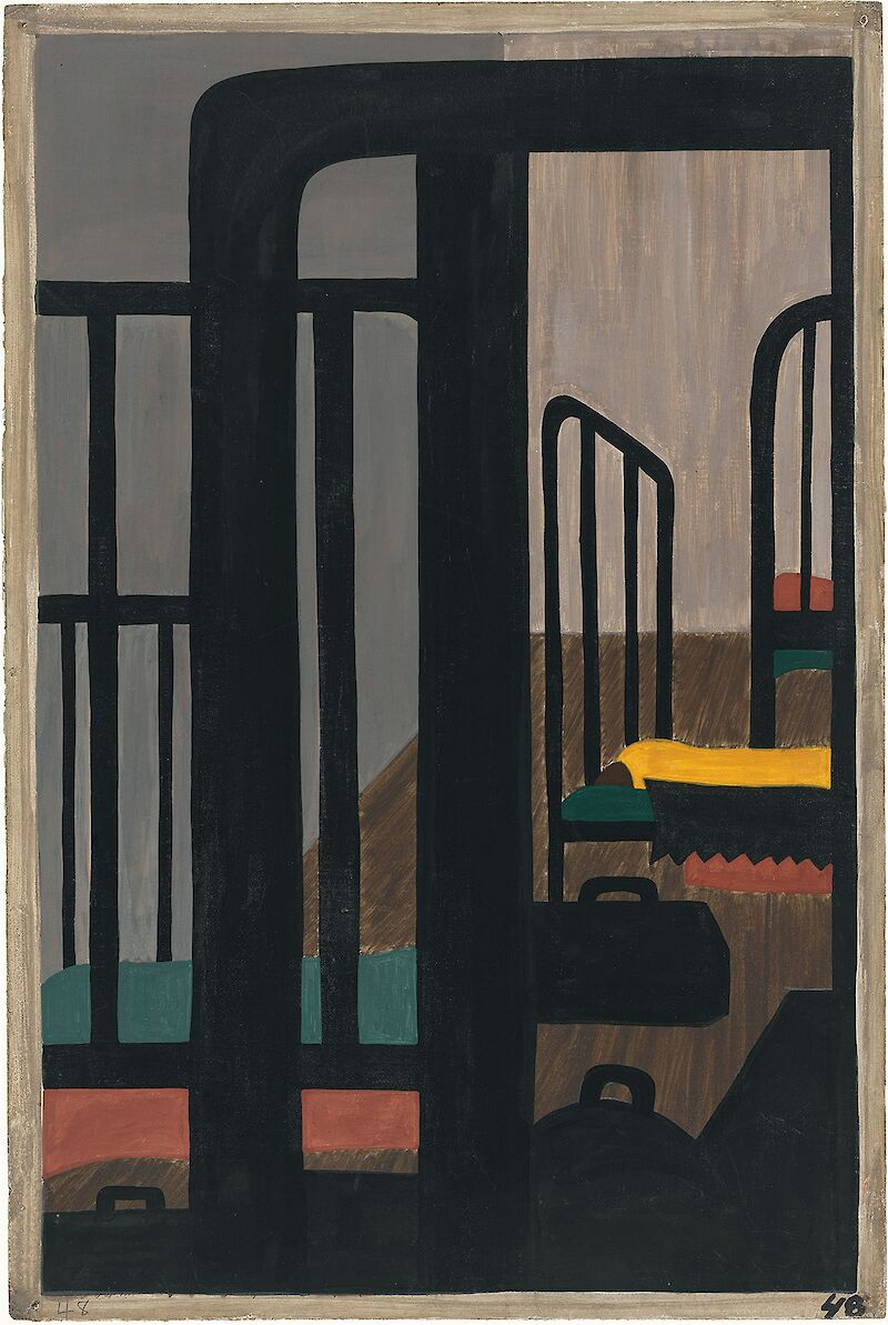 Migration Series No.48: Housing was a serious problem, 1941, Jacob Lawrence