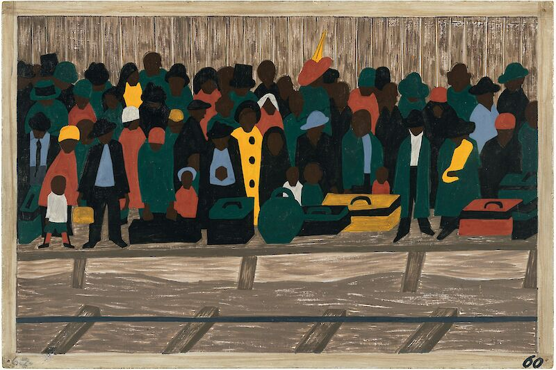 Migration Series No.60: And the migrants kept coming, 1941, Jacob Lawrence