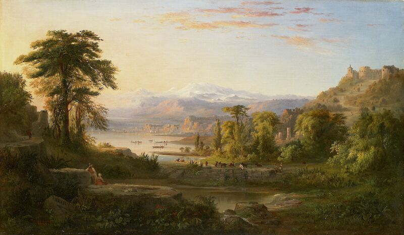 A Dream of Italy, 1855, Robert S. Duncanson