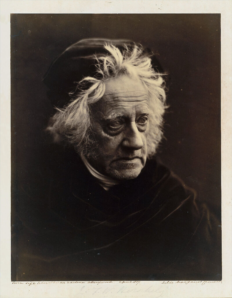 Portrait of Sir John Herschel, 1867, Julia Margaret Cameron