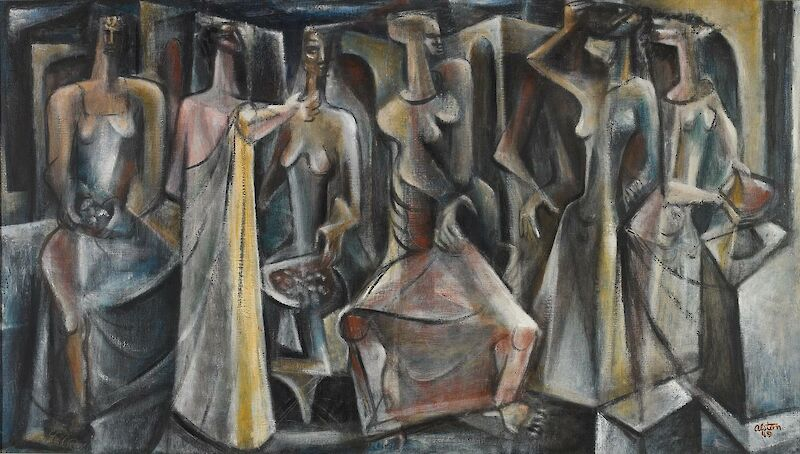 Untitled (Seven Figures), 1949, Charles Alston