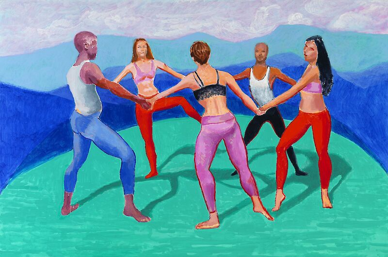 The Dancers V, 2014, David Hockney