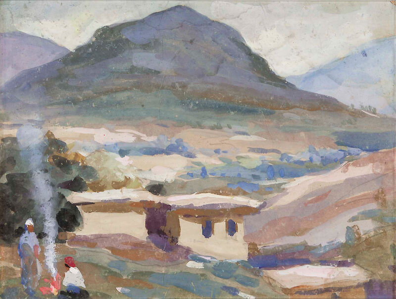 In the mountains, 1960, Ural Tansykbayev