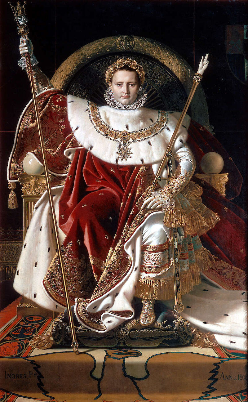 Napoleon I on his Imperial Throne, 1806, Jean-Auguste-Dominique Ingres