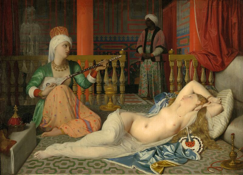 Odalisque with Slave, 1839, Jean-Auguste-Dominique Ingres