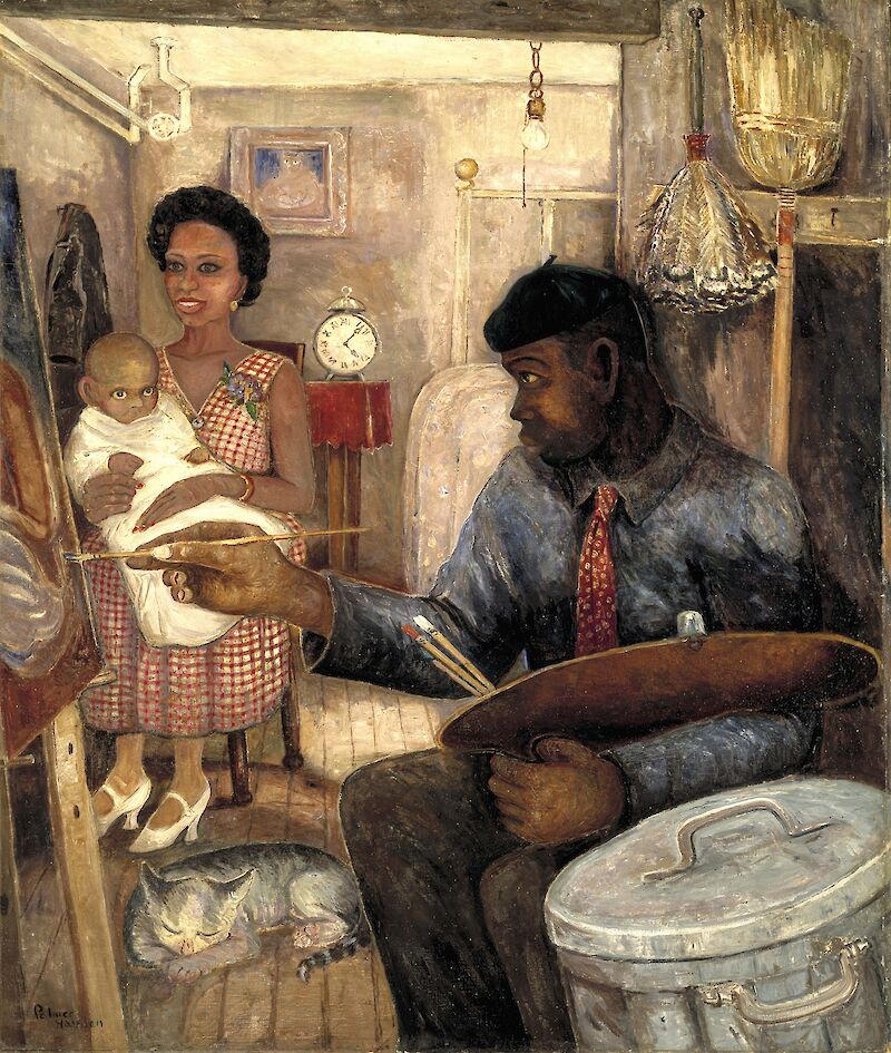 The Janitor Who Paints, 1930, Palmer Hayden