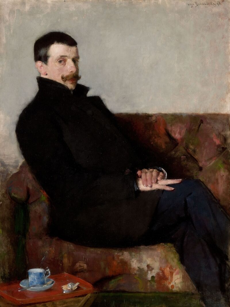 Portrait of Paul Nauen, 1893, Olga Boznańska