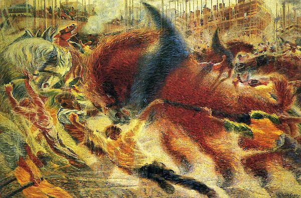 The City Rises - by Umberto Boccioni 1910 - Museum of Modern Art
