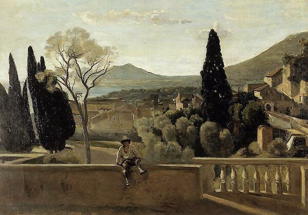 View of Tivoli (After Corot)