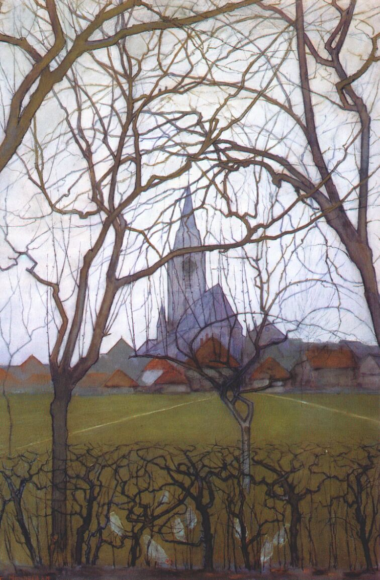 Village Church, 1898 — Piet Mondrian,