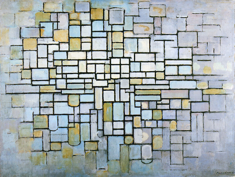 Composition in Blue Gray and Pink, 1913, Piet Mondrian
