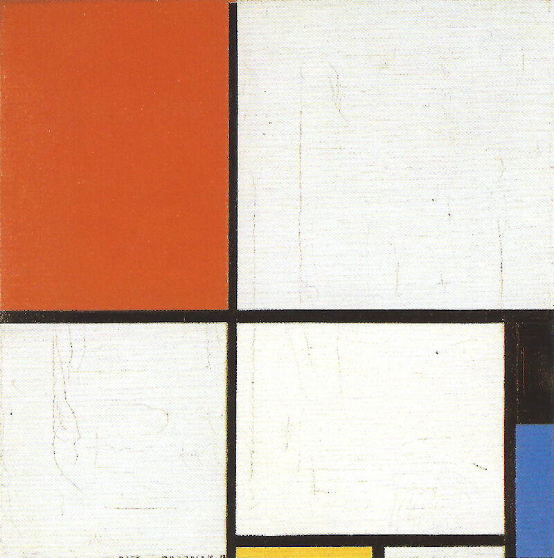 Composition with Red Yellow and Blue, 1928, Piet Mondrian