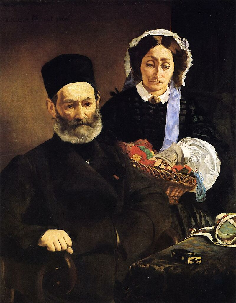 Portrait of Monsieur and Madame Auguste Manet, 1860, Édouard Manet