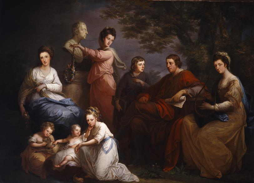 The Family of The Earl of Gower, 1772 — Angelica Kauffmann,