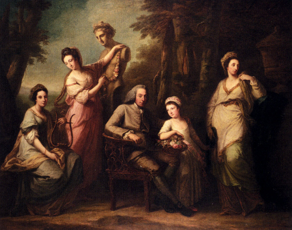 Portrait of Philip Tisdall with his Wife and Family, 1770 — Angelica Kauffmann