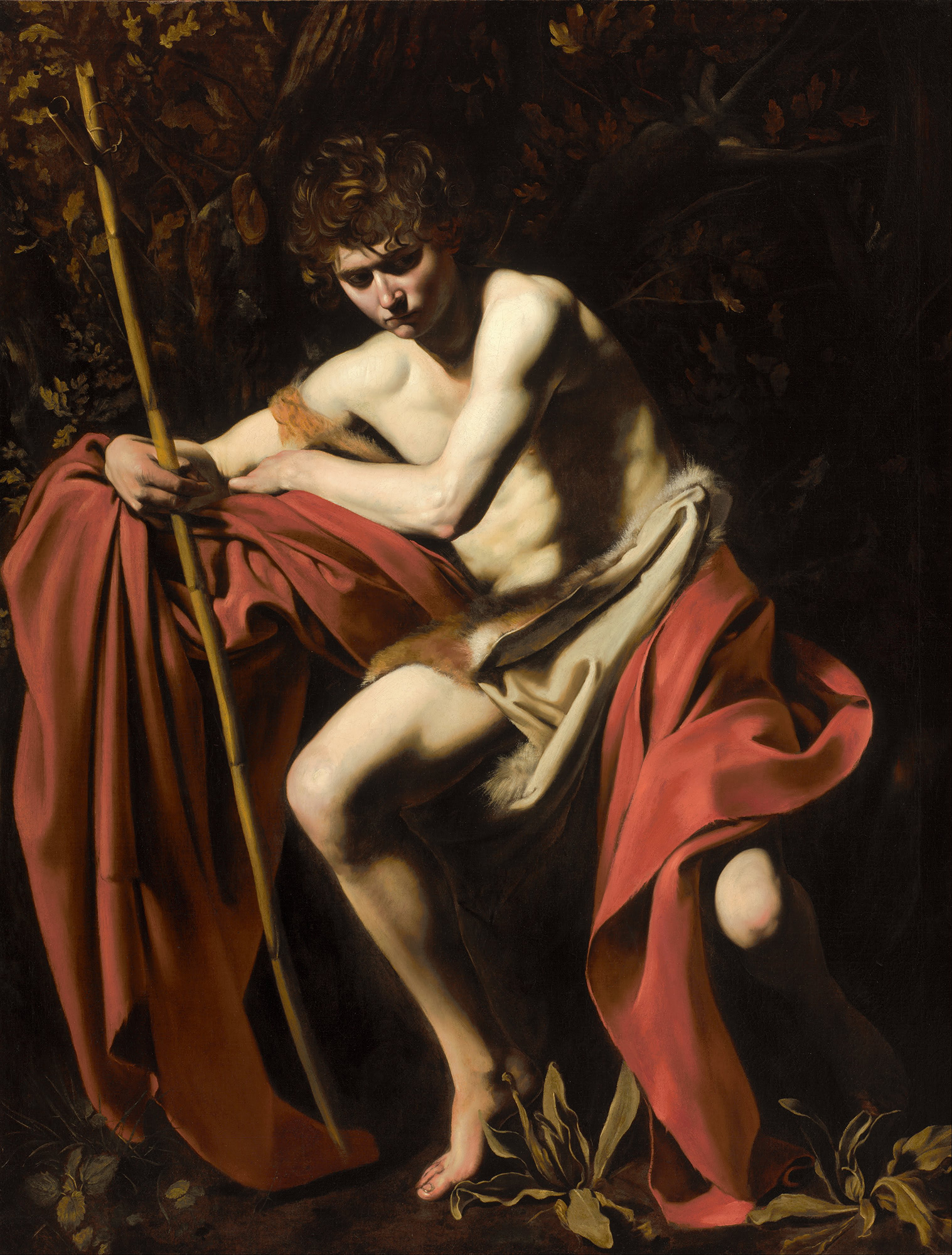John the Baptist in the Wilderness, 1604 — Caravaggio
