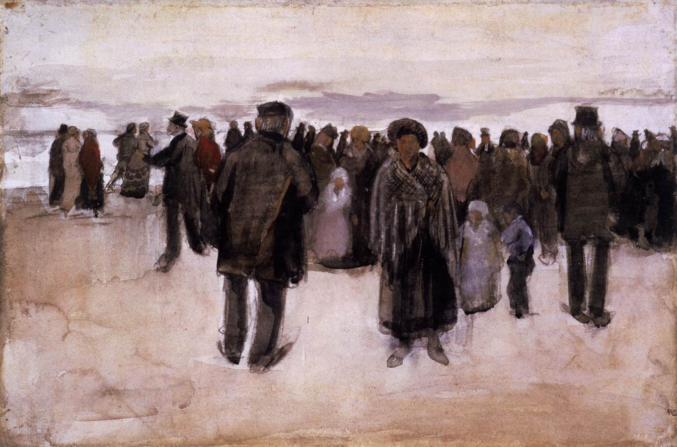 Beach at Scheveningen, 1882 — Vincent Van Gogh,