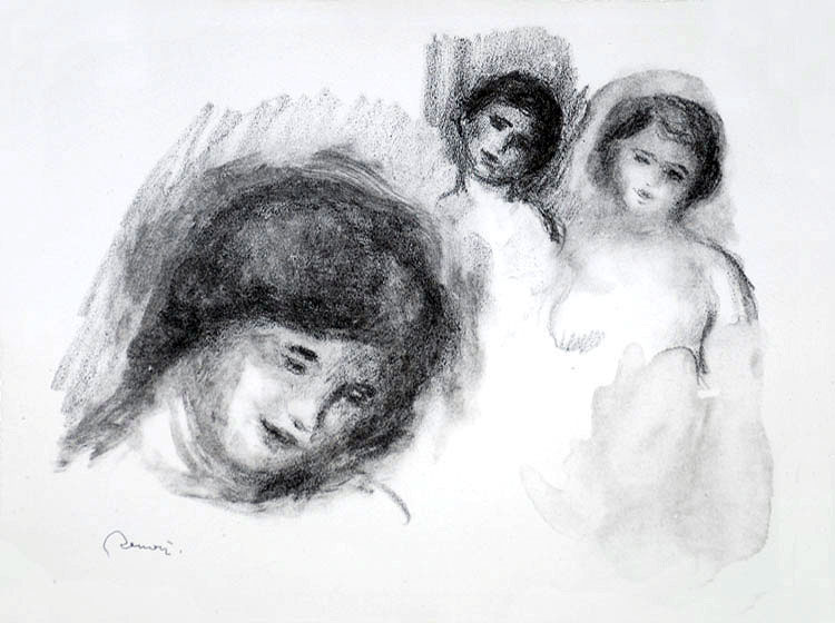 The Stone with Three Sketches, 1904 — Pierre-Auguste Renoir